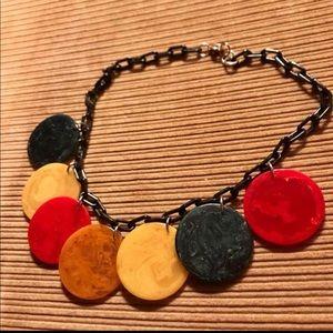 Vintage Bakelite necklace - marbled!